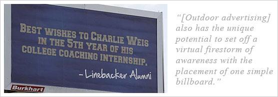 Charlie Weis Billboard