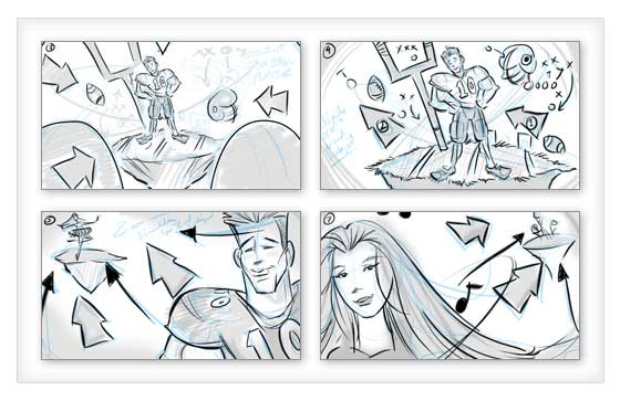 mcdonald's commercial storyboards