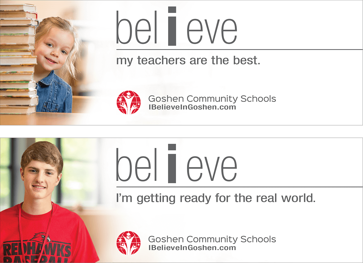 "Goshen Community Schools <strong>""I Believe"" Campaign</strong>"