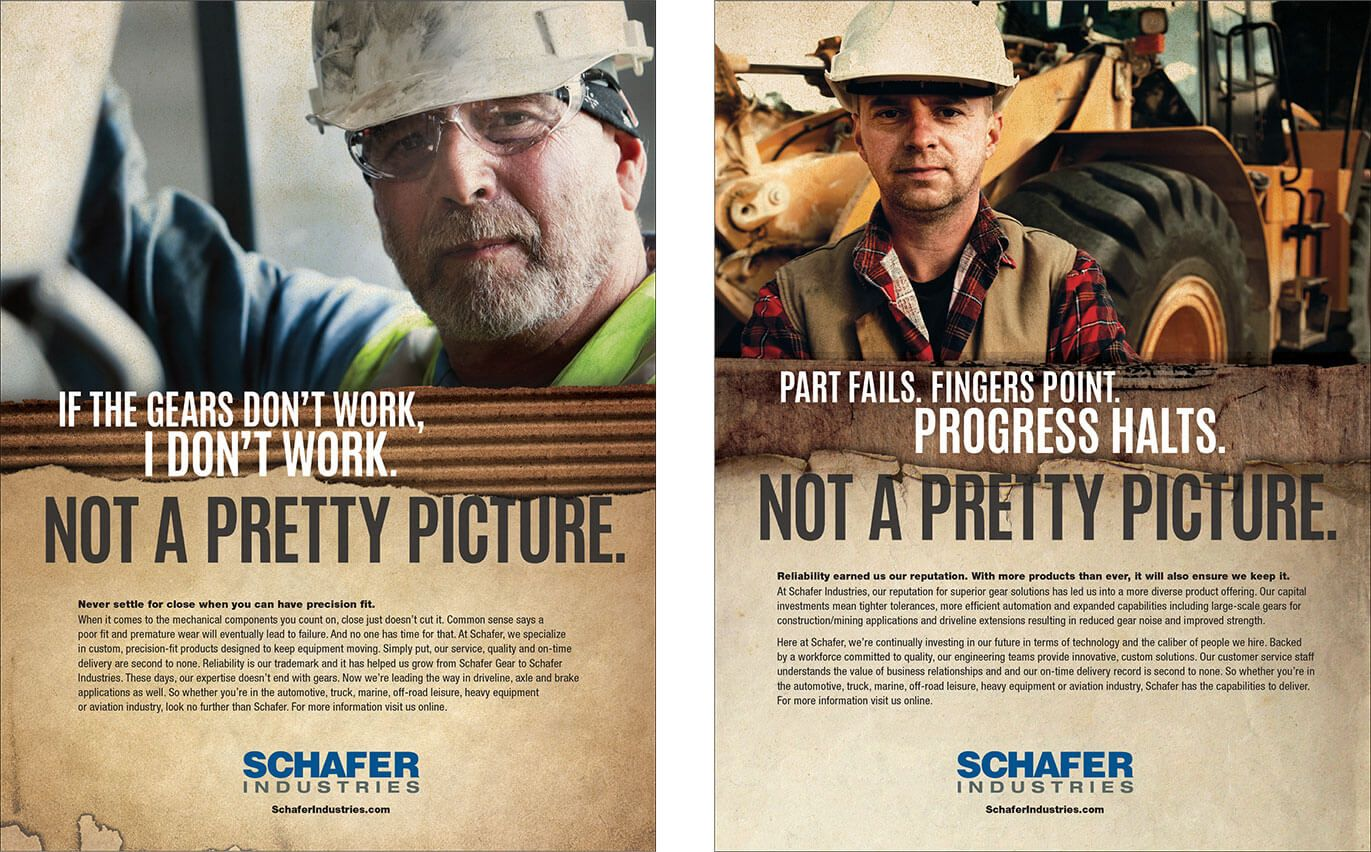 Schafer Industries <strong>Trade Advertising Campaign</strong>