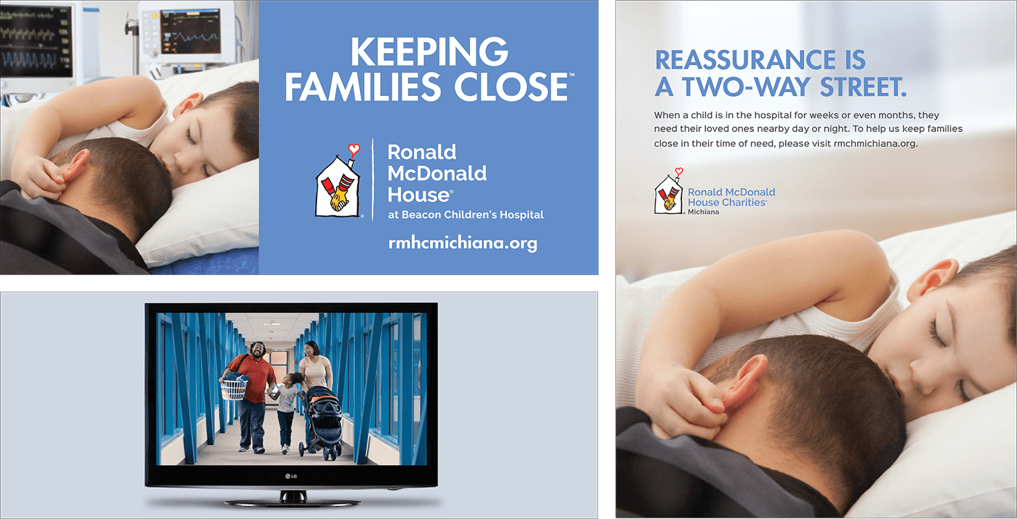 "Ronald M<span class=""lowercase"">c</span>Donald House Charities of Michiana <strong>Awareness Campaign</strong>"