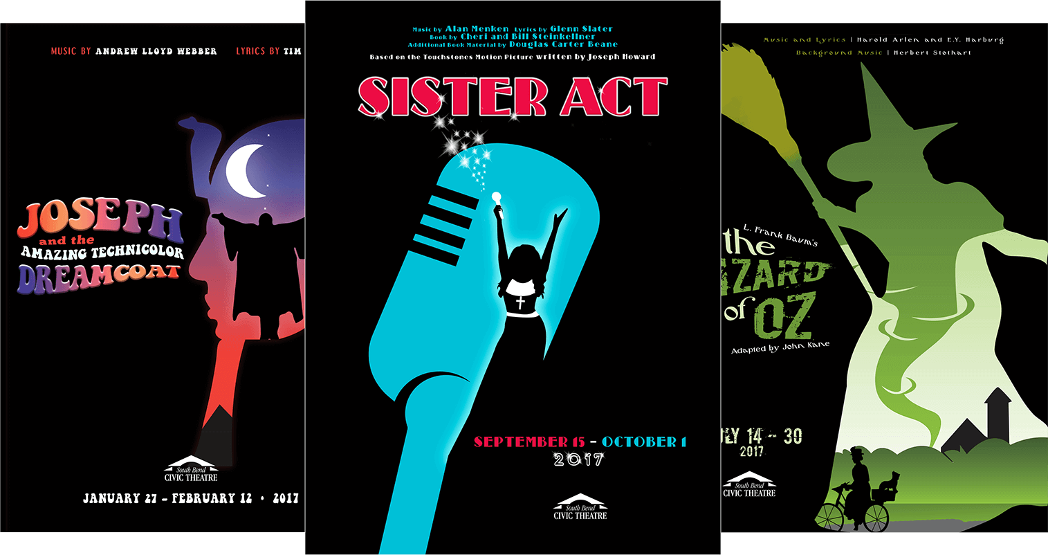 South Bend Civic Theatre <strong>2017 Posters</strong>