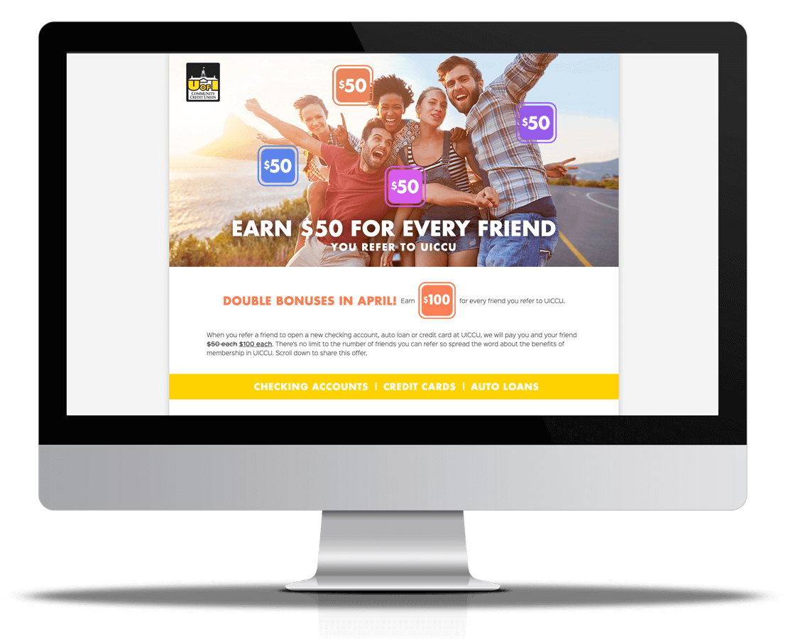 UICCU <strong>Refer A Friend Campaign Refresh</strong>